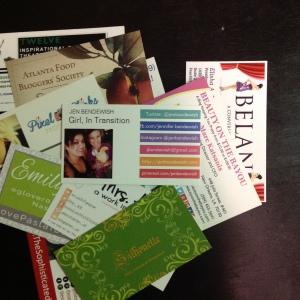 blogger business cards, blog conference, blogging, blogger
