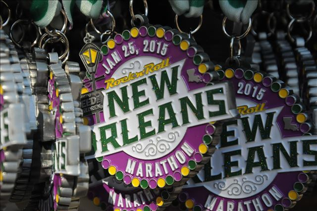 New Orleans marathon run half marathon finish strong runner